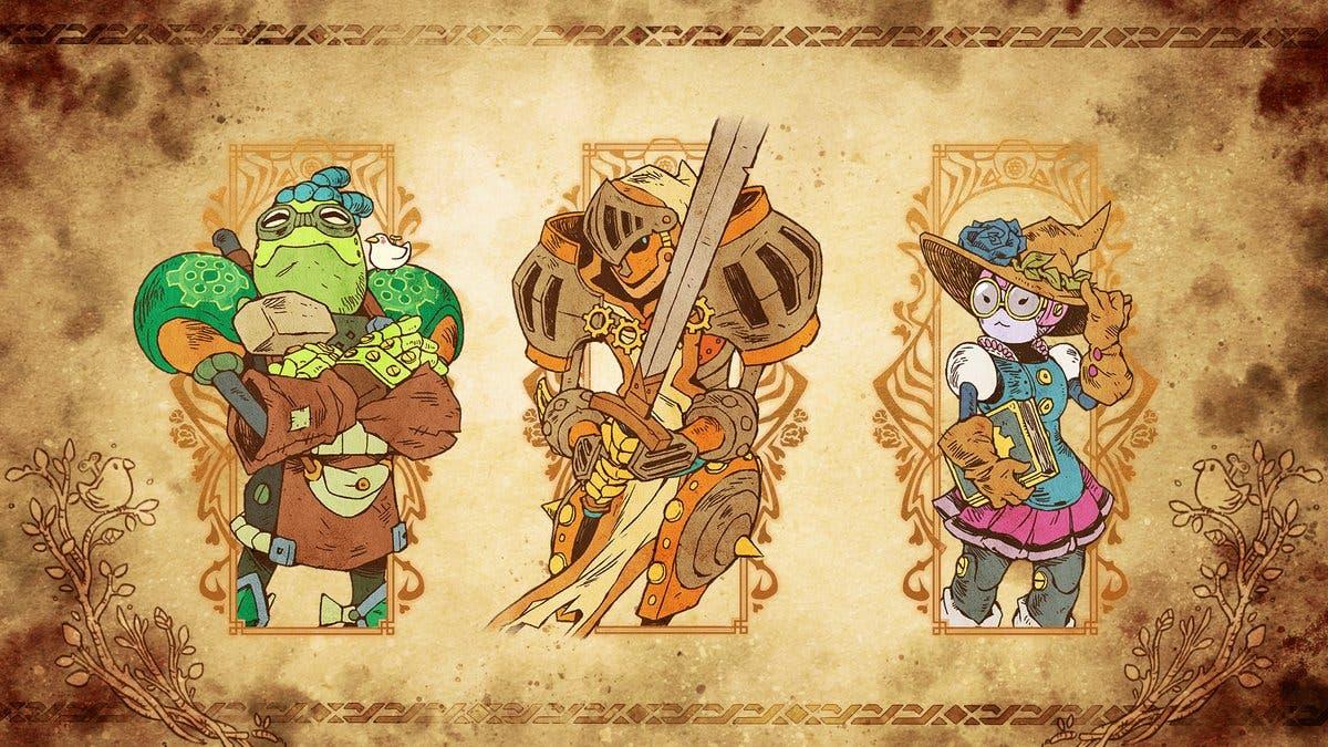 Image & Form nos muestra a los personajes principales de SteamWorld Quest