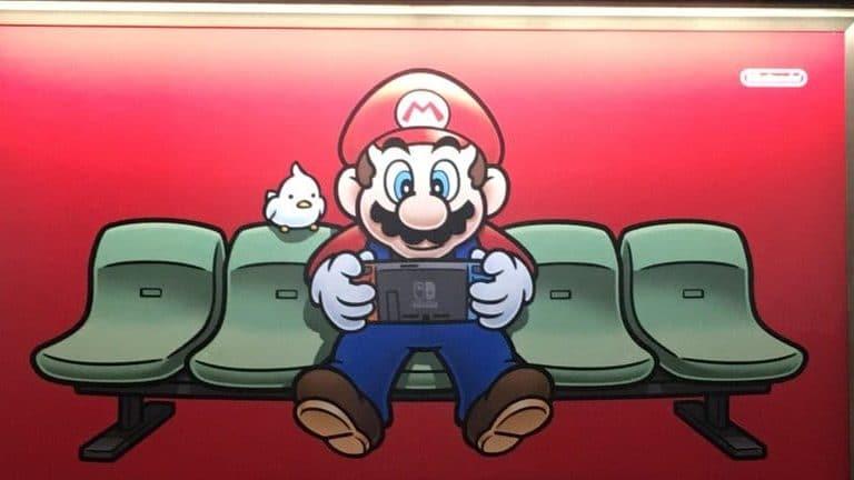 Échale un vistazo al nuevo anuncio de Nintendo Switch visto en la estación de metro nipona