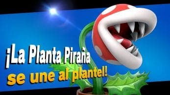 La Planta Piraña ya está disponible como contenido descargable de pago para Super Smash Bros. Ultimate