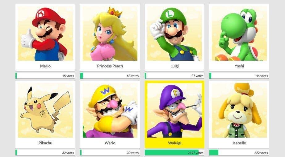 Waluigi está arrasando en la encuesta oficial de San Valentín de Play Nintendo