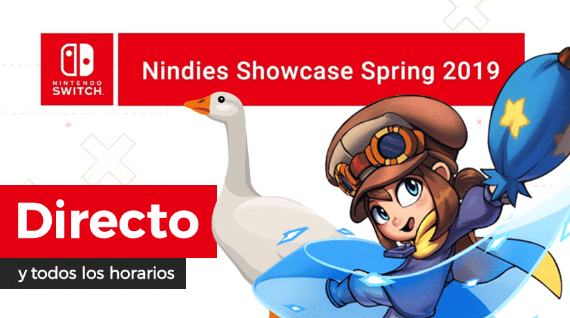 [Act.] ¡Sigue aquí en directo el Nintendo Switch Nindies Showcase Spring 2019!