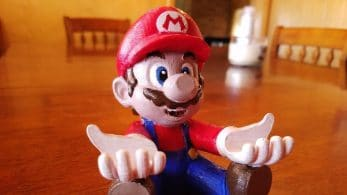 Alucina con esta figura de Mario que sujeta tu Nintendo Switch