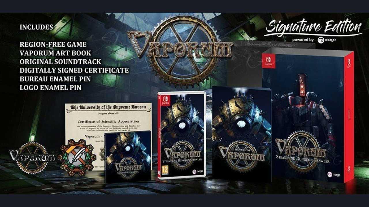 Signature Edition Games anuncia la Signature Edition de Vaporum para Nintendo Switch