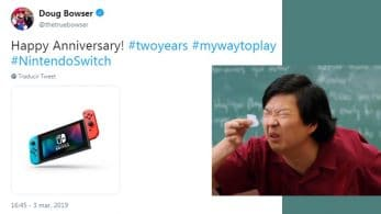 Twitter reacciona a la mini-imagen de Nintendo Switch compartida por Doug Bowser