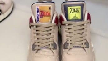 Échale un vistazo a estas zapatillas decoradas al estilo de los juegos de The Legend of Zelda para Game Boy