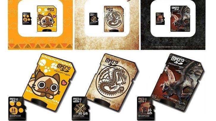 Se anuncian tres tarjetas microSD de Monster Hunter en Japón