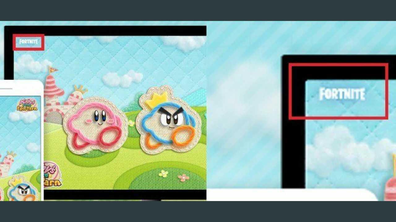 El logo de Fornite aparece en una recompensa de My Nintendo de Más Kirby en el reino de los hilos