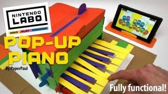El fan que construyó con Nintendo Labo un piano de papel y cartón retráctil nos presenta su versión final