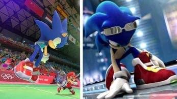 Sonic usa sus zapatillas de Sonic Riders en Mario y Sonic en los Juegos Olimpicos Tokio 2020