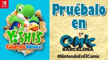 Yoshi's Crafted World será jugable en el 37 Cómic Barcelona