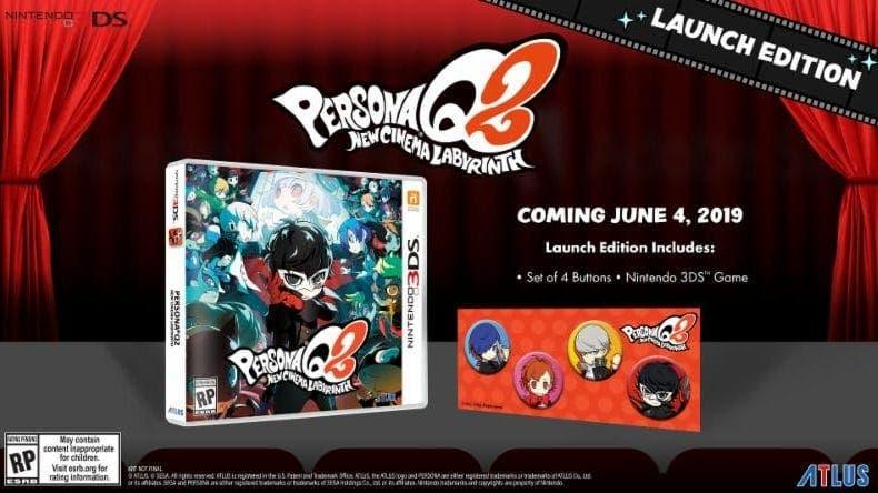Atlus anuncia DLCs y una edición de lanzamiento para Persona Q2: New Cinema Labyrinth