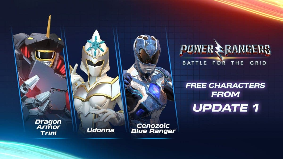 Dragon Armor Trini, Udonna y Cenozoic Blue Ranger serán añadidos como personajes gratuitos en la primera actualización de Power Rangers: Battle for the Grid