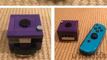 Un fan crea una mini-GameCube de LEGO para almacenar cartuchos de Switch