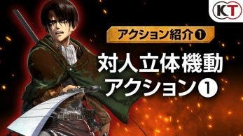 Echad un vistazo a los primeros gameplays de Attack on Titan 2: Final Battle