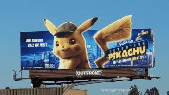 Echad un vistazo a este cartel publicitario para promocionar la película Pokémon: Detective Pikachu en California