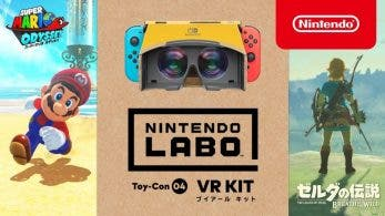 [Act.] Super Mario Odyssey y The Legend of Zelda: Breath of the Wild serán compatibles con el kit VR de Nintendo Labo a partir del 26 de abril