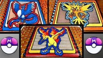 Echad un vistazo a este homenaje a las tres aves legendarias de Pokémon hecho con más de 45.000 fichas de dominó