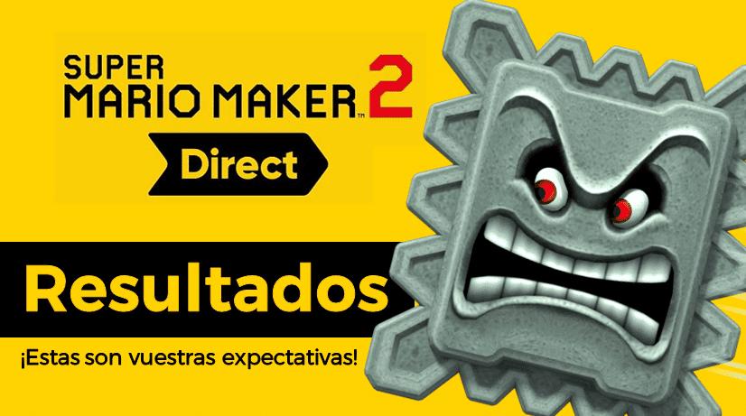 Resultados de la encuesta sobre vuestras expectativas para el Nintendo Direct de Super Mario Maker 2