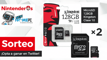 [Act.] ¡Sorteamos 2 tarjetas MicroSD de 128GB Kingston Clase 10 compatibles con Nintendo Switch!