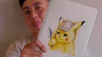 [Act.] Mira a cámara rápida cómo se creó este increíble dibujo de Pokémon: Detective Pikachu