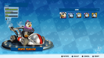 Penta Penguin estará presente en Crash Team Racing Nitro-Fueled