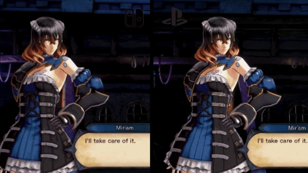 Comparativa en vídeo de Bloodstained: Ritual of the Night: Nintendo Switch vs. PlayStation 4