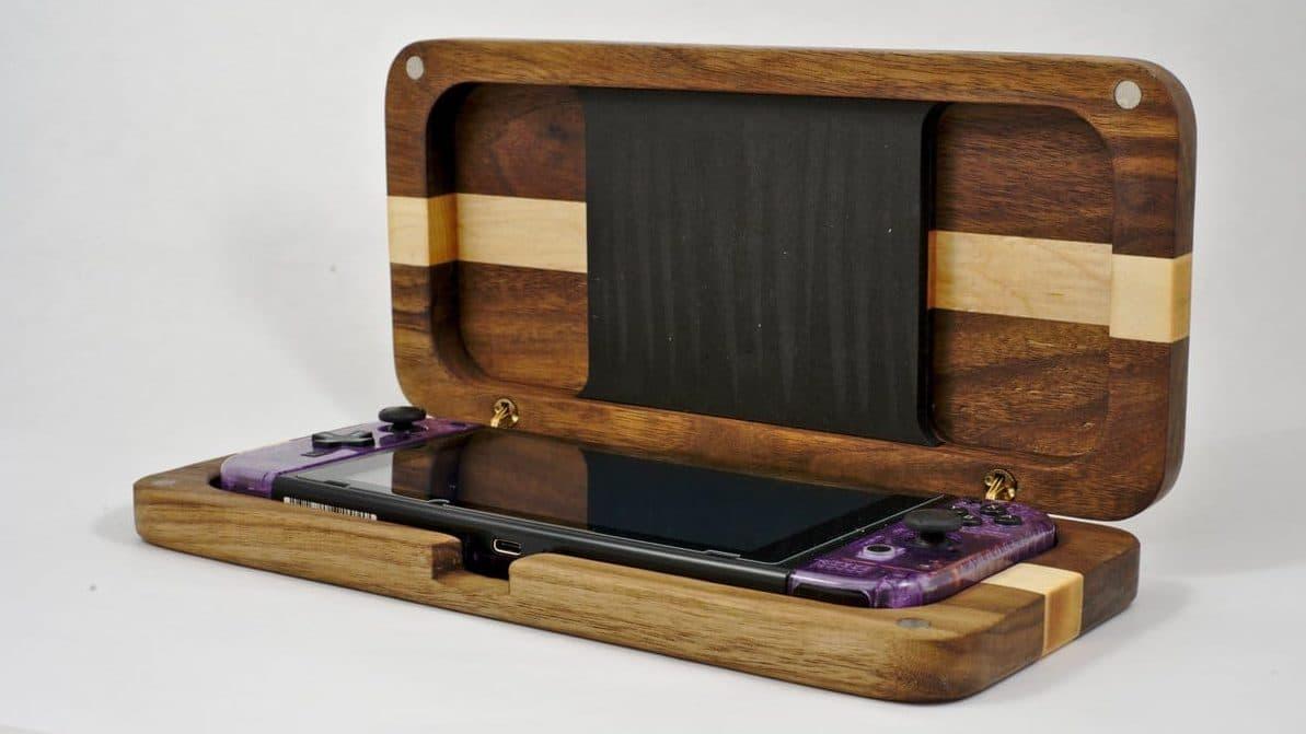 Echad un vistazo a estas magníficas fundas de madera para Nintendo Switch hechas por un fan