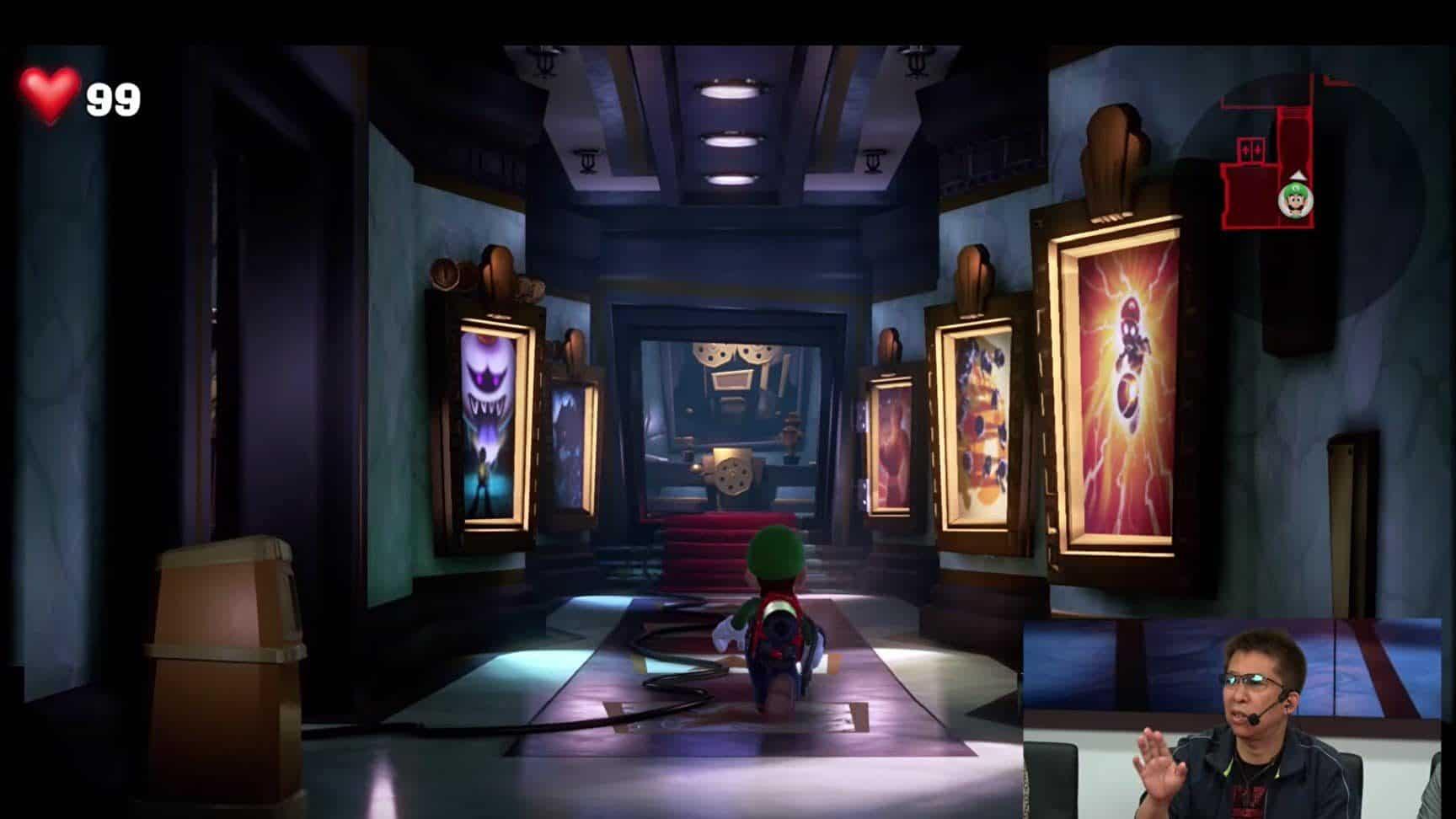El nivel del cine de Luigi's Mansion 3 cuenta con Easter Eggs de anteriores títulos de Next Level Games