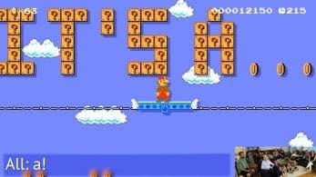 Padre desvela el género de su bebé con un original nivel de Super Mario Maker 2