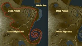 Un usuario encuentra un Lizalfos oculto en el mapa de Zelda: Breath of The Wild
