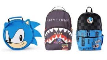 SEGA revela nuevas mochilas de Sonic The Hedgehog para la vuelta al cole