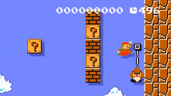 Recrean el primer nivel de Super Mario Bros. en vertical con Super Mario Maker 2