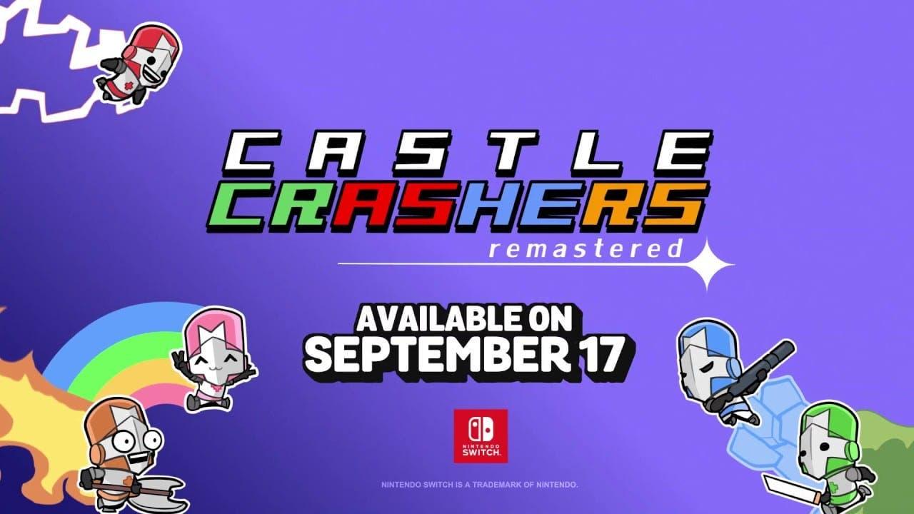 Castle Crashers Remastered se lanza el 17 de septiembre en Nintendo Switch