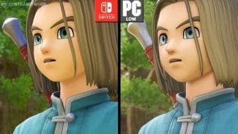 Comparativa en vídeo de Dragon Quest XI S: Nintendo Switch vs. PC
