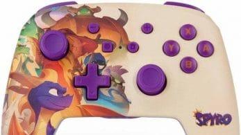 PowerA lanza un mando inalámbrico de Nintendo Switch con motivo de Spyro