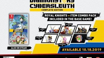[Act.] Digimon Story: Cyber ​​Sleuth Complete Edition incluye los miembros de Royal Knights y el Item Combo Pack en Switch