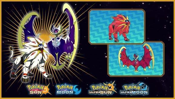[Act.] Solgaleo y Lunala variocolor serán distribuidos en Estados Unidos y Europa para Pokémon Sol, Luna, Ultrasol y Ultraluna