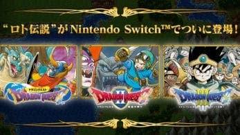 Ya puedes visitar la web oficial de Dragon Quest I, II y III para Nintendo Switch