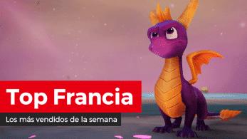 Spyro Reignited Trilogy para Nintendo Switch debuta como el segundo juego más vendido en Francia (16/9/19)