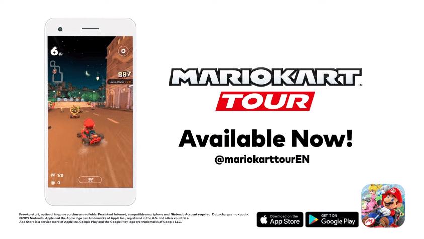 Nintendo comparte el tráiler de lanzamiento de Mario Kart Tour
