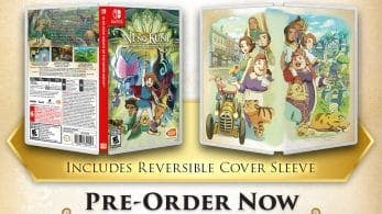 Esta es la cubierta reversible que incluye la edición física americana de Ni No Kuni para Switch