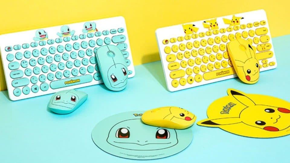 Estos teclados y ratones de Pokémon ya están disponibles en Corea del Sur