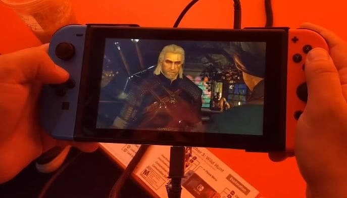Un vistazo en vídeo a The Witcher 3: Wild Hunt en el modo portátil de Nintendo Switch