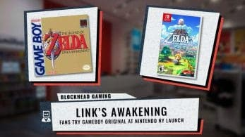 Este vídeo nos muestra como reaccionan los fans en al jugar al The Legend of Zelda: Link's Awakening original de Game Boy en Nintendo NY