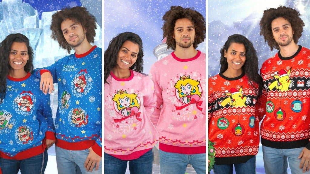 Estos jerseys navideños de Nintendo es lo que todo fan deseará ponerse estas fiestas