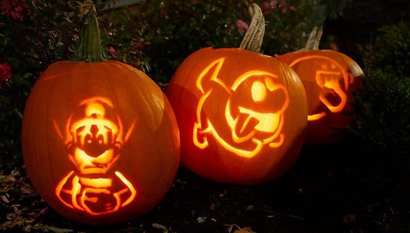 Prepárate para Halloween con estas plantillas oficiales para calabazas de Luigi's Mansion 3