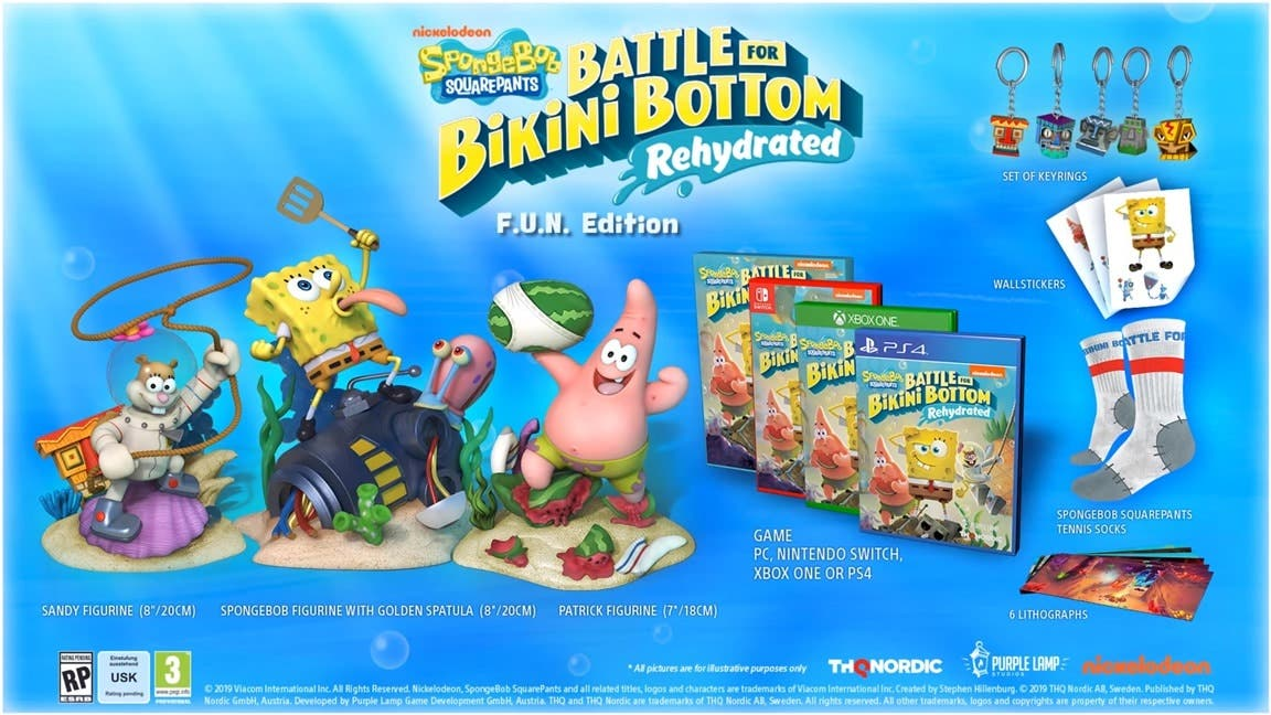 SpongeBob SquarePants: Battle for Bikini Bottom – Rehydrated contará con estas ediciones especiales