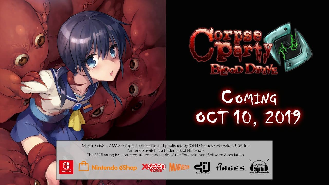 [Act.] Anunciado Corpse Party: Blood Drive para Nintendo Switch