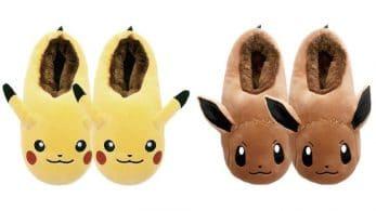 Un par de zapatillas de estar por casa con licencia oficial de Pikachu y Eevee se lanzarán este mes en Japón