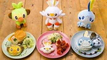 Nuevos platos inspirados en Grookey, Scorbunny y Sobble se unirán al menú de los Pokémon Café de Japón